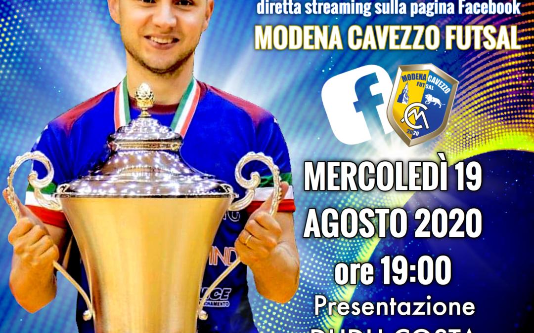 DUDU DAY: Il 19 agosto alle ore 19.00 il Modena Cavezzo Futsal presenta il numero 10!