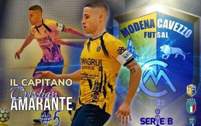 Cristian Amarante è il nuovo capitano del Modena Cavezzo Futsal!