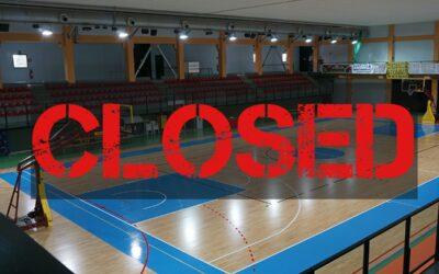MCF-Olimpia Regium: Palazzetto di Cavezzo chiuso al pubblico